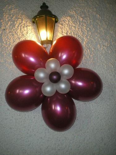 flores de globos varios modelos